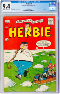 Herbie #1 (ACG, 1964) CGC NM 9.4 Cream to off-white pages