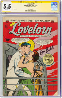 Lovelorn #7 Signature Series: Ken Bald (ACG, 1950) CGC FN- 5.5 Off-white pages
