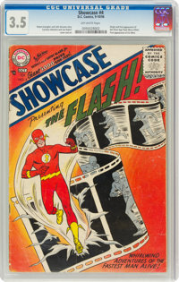 Showcase #4 The Flash (DC, 1956) CGC VG- 3.5 Off-white pages