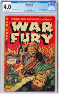 Golden Age (1938-1955):War, War Fury #1 (Comic Media, 1952) CGC VG 4.0 Off-white pages....