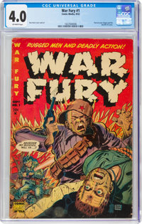 War Fury #1 (Comic Media, 1952) CGC VG 4.0 Off-white pages