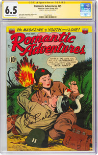 Romantic Adventures #25 Signature Series: Ken Bald (ACG, 1952) CGC FN+ 6.5 Off-white to white pages