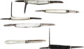 Edged Weapons:Knives, Lot of Six (6) Interesting Small Pocket Knives. . ... (Total: 6 )
