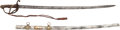Military & Patriotic:Civil War, Unmarked Presentation Style Sword with Scabbard.. ...