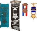 Miscellaneous:Ephemera, Ornate G.A.R. Presentation Badge and More with Chicago Connection.. ...