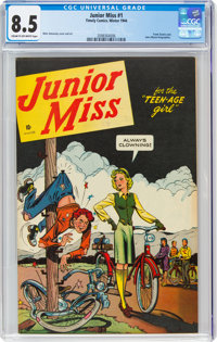 Junior Miss #1 (Timely, 1944) CGC VF+ 8.5 Cream to off-white pages