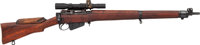 British Enfield No. 4 MK1 Bolt Action Sniper Rifle with Telescopic Sight
