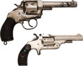 Handguns:Double Action Revolver, Lot of Two Nickel-Plated Revolvers.. ... (Total: 2 Items)