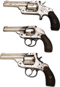 Handguns:Double Action Revolver, Lot of Three Nickel-Plated Revolvers Including One Inscribed Example. . ... (Total: 3 Items)