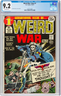 Weird War Tales #1 (DC, 1971) CGC NM- 9.2 Off-white pages