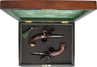 Cased Pair of Queen Anne Flintlock Pistols. ... (Total: 2 Items)