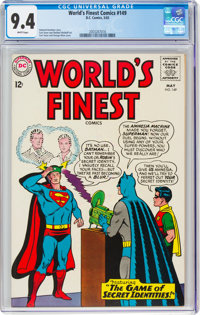 World's Finest Comics #149 (DC, 1965) CGC NM 9.4 White pages