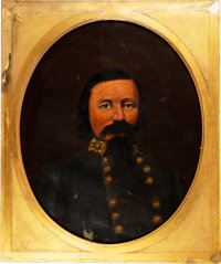 [Pickett's Charge]: Oil on Canvas Portrait of General George Pickett