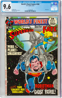 World's Finest Comics #208 (DC, 1971) CGC NM+ 9.6 White pages