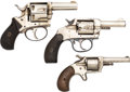 Handguns:Double Action Revolver, Lot of Three Nickel-Plated Revolvers.. ... (Total: 3 Items)