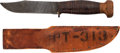 Edged Weapons:Knives, WWII U.S. Navy Remington PAL RH 35 Fighting Knife with Leather Sheath.. ...