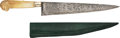 Edged Weapons:Knives, Etched French Knife by Vauthier with Mother of Peal Handle.. ...