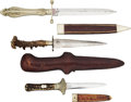 Edged Weapons:Knives, Lot of Three (3) Interesting Dirks - Daggers.. ... (Total: 3 Items)