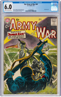 Our Army at War #60 (DC, 1957) CGC FN 6.0 Cream to off-white pages
