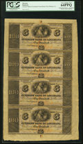 Obsoletes By State:Louisiana, New Orleans, LA- Citizens' Bank of Louisiana $100-$100-$100-$100 18__ Uncut Sheet PCGS Very Choice New 64PPQ.. ...