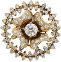 Estate Jewelry:Brooches - Pins, Diamond, Gold Brooch . ...