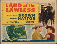 """Land of the Lawless & Other Lot (Monogram, 1947). Folded, Fine. Half Sheets (2) (22"""" X 28""""). Western..."""