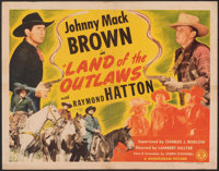 """Land of the Outlaws & Other Lot (Monogram, 1944). Folded, Fine+. Half Sheets (3) (22"""" X 28""""). Western..."""