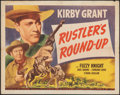 """Movie Posters:Western, Rustler's Round-Up & Other Lot (Universal, 1946). Folded, Fine. Half Sheets (2) (22"""" X 28""""). Western.. ... (Total: 2 Items)"""
