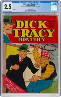 Dick Tracy Monthly #1 (Dell, 1948) CGC GD+ 2.5 Cream to off-white pages