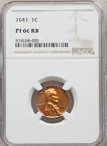 Proof Sets, Five-Piece 1941 Proof Set PR65 to PR67 NGC. The holders display consecutive certification numbers. The set includes: Cent ... (Total: 5 coins)