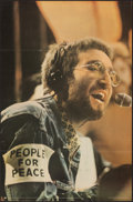 """Movie Posters:Rock and Roll, John Lennon - People for Peace (Pace International, 1970). Folded, Very Fine. British Personality Poster (24.5"""" X 37.5""""). Lo..."""