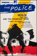 """Movie Posters:Rock and Roll, The Police (Parc, 1983). Very Fine+. Concert Window Card (14"""" X 22""""). Rock and Roll.. ..."""