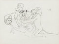 Animation Art:Production Drawing, Society Dog Show Pluto Animation Drawing (Walt Disney, 1939)....