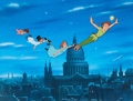 """Animation Art:Limited Edition Cel, Peter Pan """"Flying Over London"""" Limited Edition Cel #358/500 (Walt Disney, c. 1990s). ..."""