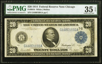 Fr. 991b $20 1914 Federal Reserve Note PMG Choice Very Fine 35 EPQ