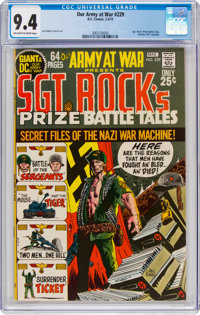 Our Army at War #229 (DC, 1971) CGC NM 9.4 Off-white to white pages