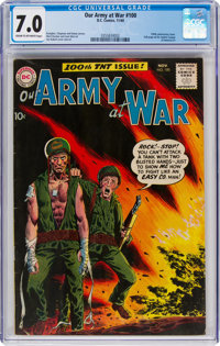 Our Army at War #100 (DC, 1960) CGC FN/VF 7.0 Cream to off-white pages
