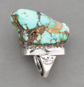 American Indian Art:Jewelry and Silverwork, A Massive Navajo Ring...