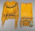 American Indian Art:Beadwork and Quillwork, An Apache Girl's Beaded Hide Puberty Outfit...