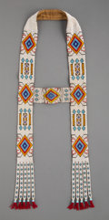 American Indian Art:Jewelry and Silverwork, A Great Lakes Beaded Cloth Headstall...