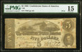 Confederate Notes:1863 Issues, A-D Plate Letter Error T60 $5 1863 PF-6 Cr. 451 PMG Choice Fine 15.. ...