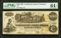 Confederate Notes:1862 Issues, T39 $100 1862 PF-2 Cr. UNL PMG Choice Uncirculated 64 EPQ.. ...