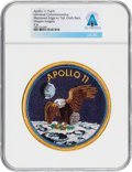 Explorers:Space Exploration, Apollo 11 Universal Commemorative Mission Insignia Patch Directly From The Armstrong Family Collection™, CAG Certified.