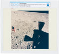 """Explorers:Space Exploration, Apollo 11: Original NASA """"Red Number"""" American Flag on the Lunar Surface From the Lunar Module Window, July 20, 1969, Colo..."""