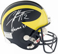 Football Collectibles:Helmets, Charles Woodson Signed Michigan Helmet. ...