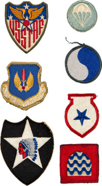 Buzz Aldrin: Collection of Thirteen Mostly-Vintage Military Patches, Originally from His Personal Collection