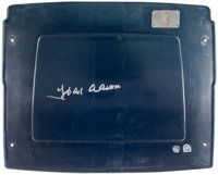 Hank Aaron Signed Atlanta-Fulton County Stadium Seatback