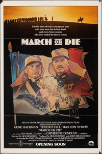"""March or Die (Columbia, 1977). Folded, Fine/Very Fine. One Sheets (2) (27"""" X 41"""") Advance and Regular Styles..."""