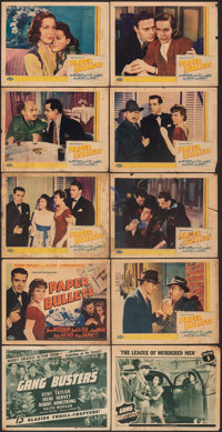 """Gang Busters & Other Lot (Universal, 1942). Overall: Fine. Title Lobby Cards (3) & Lobby Cards (16) ( (11""""..."""