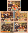 """Movie Posters:Western, Heart of the West & Other Lot (Paramount, 1936). Fine. Lobby Cards (10) & Title Lobby Card (11"""" X 14""""). Western.. ... (Total: 11 Items)"""